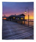 Evening Lights Fleece Blanket