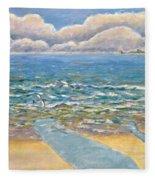 Evening North Myrtle Beach Fleece Blanket
