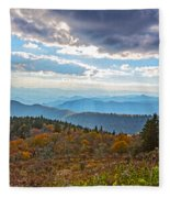 Evening On The Blue Ridge Parkway Fleece Blanket