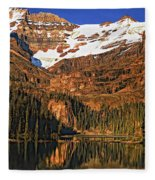 Evening On The Great Divide Painted Fleece Blanket