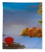 Evening On The Last Sunny Day Fleece Blanket