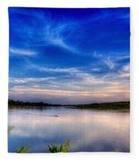 Evening On The River Fleece Blanket