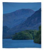 Evening Over Derwentwater Fleece Blanket