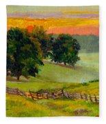 Evening Pastures Fleece Blanket