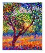 Evening Poppies Fleece Blanket