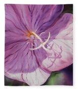 Evening Primrose Flower Fleece Blanket