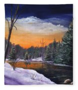 Evening Reflection Fleece Blanket