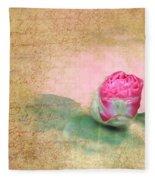 Evening Rosebud Fleece Blanket