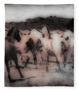 Evening Roundup - Featured In Comfortable Art Group Fleece Blanket