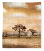 Evening Showers Fleece Blanket