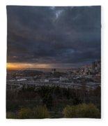 Evening Skies Light Fleece Blanket