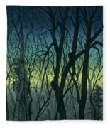 Evening Stand Fleece Blanket