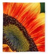Evening Sun Sunflower Fleece Blanket