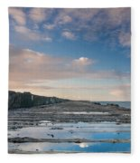 Evening View Down The South Jetty Fleece Blanket