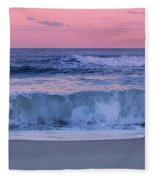 Evening Waves - Jersey Shore Fleece Blanket