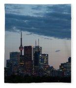 Eventide - Slow Dusk In Toronto Fleece Blanket