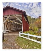 Everett Covered Bridge Fleece Blanket