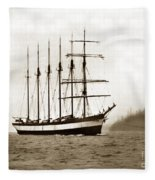 Everett G. Griggs Sailing Ship Washington State 1905 Fleece Blanket