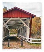 Everett Road Bridge Fleece Blanket