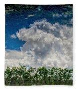 Reflected Everglades 0203 Fleece Blanket