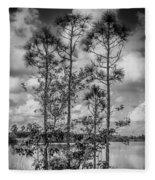 Everglades 0336bw Fleece Blanket