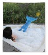 Everglades City Florida Mermaid 017 Fleece Blanket