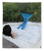Everglades City Florida Mermaid 018 Fleece Blanket