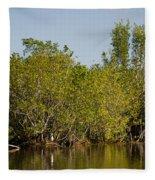 Everglades'  Egrets Fleece Blanket
