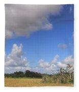 Everglades Landscape Panorama Fleece Blanket