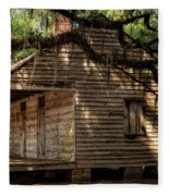 Evergreen Plantation Slave Quarters Fleece Blanket