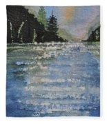 Evergreen Shore Fleece Blanket