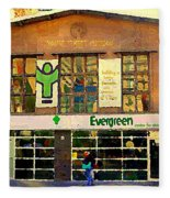 Evergreen Yonge St  Scenes Building A Better Toronto One Person At A Time Community Center Cspandau Fleece Blanket