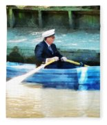 Everyone Is The Captain Of Their Own Boat Fleece Blanket