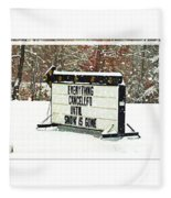 Everything Cancelled - Funny Sign - Snow Fleece Blanket