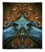 Evil Autumn Tree Roots Fleece Blanket
