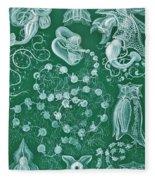 Examples Of Siphonophorae Fleece Blanket