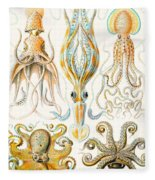 Examples Of Various Cephalopods Fleece Blanket