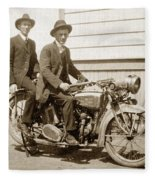 Excalibur Motorcycle Circa 1920 Fleece Blanket