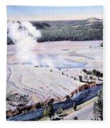 Excelsior Geyser, Yellowstone Np, 20th Fleece Blanket