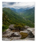 Exclamation Point North Carolina  Fleece Blanket