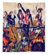 Execution Of Charles I, 1649 Fleece Blanket