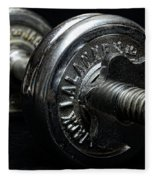 Exercise  Vintage Chrome Weights Fleece Blanket