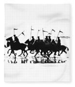 Exhibition Platoon Of The 11th U.s. Cavalry On Del Monte Beach Monterey California 1935 Fleece Blanket