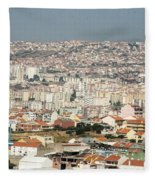 Exiting Lisbon By Plane Fleece Blanket