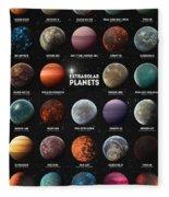 Exoplanets Fleece Blanket