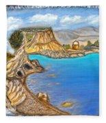 Exotic Beach Near Limassol Fleece Blanket