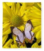 Exotic Butterfly Fleece Blanket