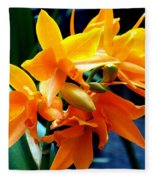 Exotic Orange Fleece Blanket