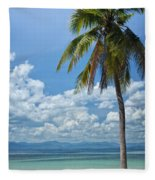 Exotic Palm Tree Fleece Blanket