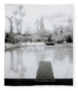 Exotic Oasis  Fleece Blanket